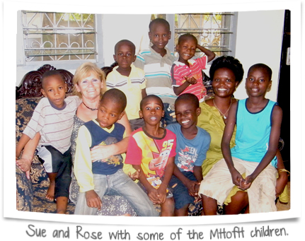 Sue and Rose with some of the MHofH children